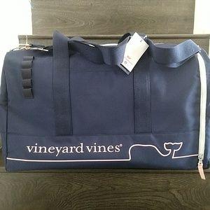 Vineyard Vines Target navy pink duffle bag